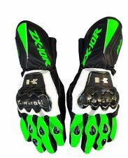 Kawasaki Motorbike MotoGP Racing Leather Gloves ZX10R