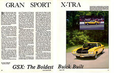 1970 BUICK GSX  ~  NICE 4-PAGE ARTICLE / AD