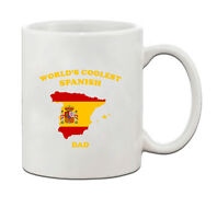 Worlds Coolest SPANISH Dad Ceramic Coffee Tea Mug Cup
