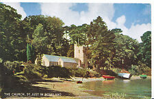 Cornwall Postcard - The Church - St Just in Roseland  XX774