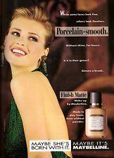 1991 Maybelline Cosmetics Daniela Pestova Print Ad Vintage Advertisement VTG 90s