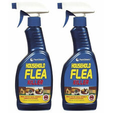 More details for 2x household flea killer spray trigger tick killing home mites cats dogs 500ml