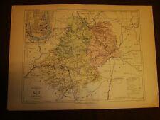 Carta, cartina o mappa del 1840 Lot - Cahors - Francia Malte Brun
