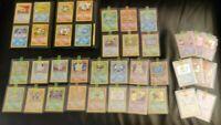 Pokemon 151 Set Complete Base Jungle Fossil 2 + 30 Holos + 1st Editions LP-NM/MT