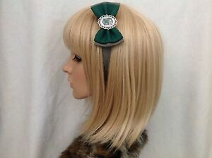 Harry Potter Slytherin headband hair bow rockabilly pin up geek hogwarts crest