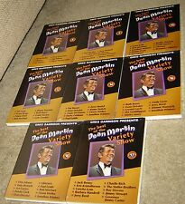 THE BEST OF THE DEAN MARTIN VARIETY SHOW EIGHT DVD LOT, NEW AND SEALED, CLASSIC!