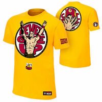John Cena U CAN'T C ME Never Give Up Yellow WWE Authentic T-Shirt Adult X Large