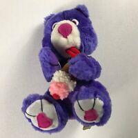 """Nanco Plush Bear VTG 1997 Ice Cream Cone Purple 9"""" Stuffed Animal Teddy Cuddly"""