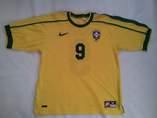 Vintage Nike Dri Fit Brasil National Team #9 Ronaldo Soccer Jersey In Size M
