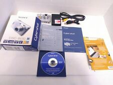 Sony Cyber-shot DSC-W30 6.0MP Digital Camera - Silver In Original Box Tested