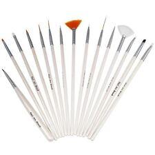 LOT 15 PINCEAUX  NAIL ART ONGLES DECO RESINE GEL UV MANUCURE PRO