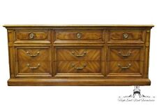 THOMASVILLE Decorum Collection Bookmatched & Burl Walnut Neoclassical Dresser