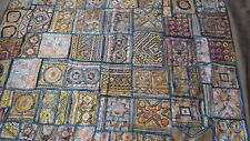 Queen Size Coverlet with Quilted Embellishments Made in India