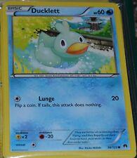 Ducklett # 36/122 XY Breakpoint Set Pokemon Trading Cards Break Point MINT