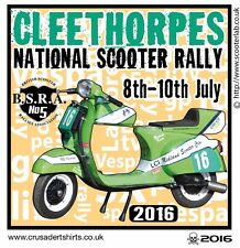 2016 CLEETHORPES SCOOTER RALLY RUN  PATCH BSRA MODS SKINHEADS not PADDY SMITH