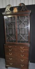 Antique George III Bureau Bookcase Desk Mahogany
