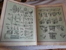 Vintage catalogue 1910s Hardware door fittings tools wrought iron hooks handles