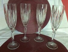 4 Classic Cristal D'Arques-Durand Champagne Flutes 6 oz    Made in France    #74