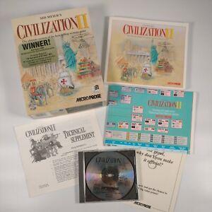 Sid Meier's Civilization II PC CD Rom Original BIG BOX Manual CIVILISATION CIV 2