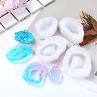 Irregular Crystal Pendant Silicone Mold Epoxy Resin Mould Jewelry DIY Craft_ti