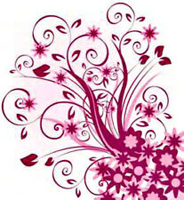 20  WATER SLIDE NAIL ART  DECAL TRANSFERS PINK DESIGN WITH TINY FLOWERS