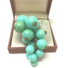 Vintage Jewellery Lovely Hanging  Bunch Of Grapes Brooch Pin