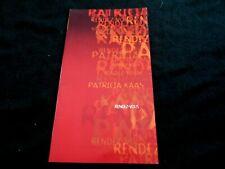 PATRICIA KAAS/PROGRAMME DE CONCERT/RENDEZ VOUS/ML/A