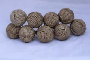 Set Of Ten Jute Knobs For Pull And Push Handle Decorative Natural Jute Knobs