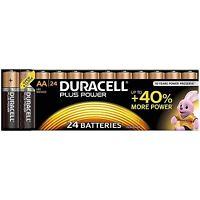 24x Duracell AA Plus Power Duralock Alkaline Batteries Cell LR6 Non-Rechargeable