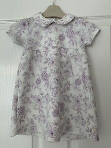 Baby Girls Stunning Lilac Floral Dress Tu 12-18m