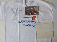 Rubens Barrichello Signed Formula 1 T Shirt, Card