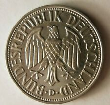 1956 D GERMANY MARK - AU/UNC - Awesome Coin - FREE SHIPPING - HV30