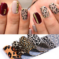 4Pcs/Set Nail Foils Leopard Transfer Stickers Decals Nail Art Design Decorations