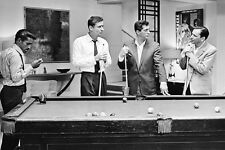 Frank Sinatra Rat Pack By Pool Table B&W 24X36 Poster