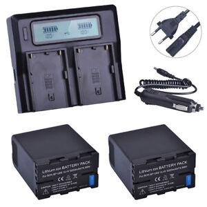 BP-U60 BPU60 5200mAH Battery+LCD Fast Charger  for Sony XDCAM EX PMW100 PMW150