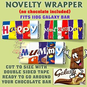 Mothers Day CHOCOLATE BAR WRAPPER fit Galaxy 110g Mother's Day Gift