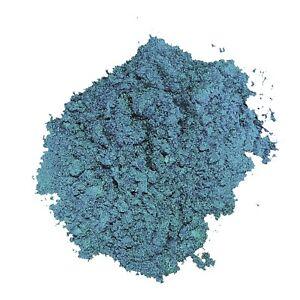Pigment nacré en poudre BLEU ACIER, à mélanger aux résines époxy, vernis PU