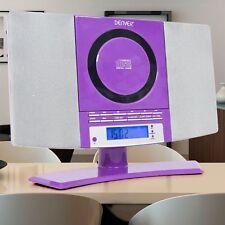 NEU Minianlage Stereo Anlage CD-Player MP3 Spieler kompakt Hifi Musik Audio lila