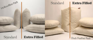Max Plump Hollowfibre / Duck Feather Cushion Pad Inner Filler Scatters All Sizes
