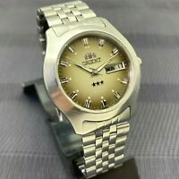 Vintage Mens Watch ORIENT Calendar CRYSTAL 3 AAA Automatic 21 jewels Japan