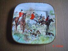 E Johnson And Son Fine China Square Plate Hunting Scene