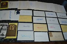 AMAZING VINTAGE BASEBALL SIGNED INDEX & POSTCARD COLLECTION! 132 AUTO'S!!!