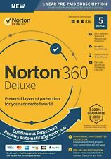 Norton 360 Deluxe 2020 - 5 Devices - 1 Year - Email Delivery