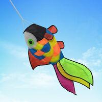 Rainbow Fish Kite Windsock Wind Spinner Garden Decor Kids Line Laundry Kids Toys