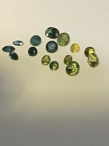 sapphires 15 mixed stones  6.1 ct  largest 1.3 ct