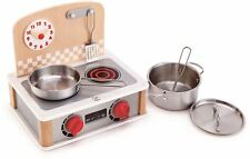 Hape 2-IN-1 KITCHEN & GRILL SET Pre-School Young Children Wooden Toy Game BN