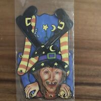 Vintage Halloween Witch 22 Inch Jointed Decoration New