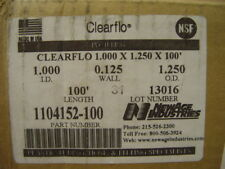 """New Age 1104152-100 TUBING CLEARFLO CLEAR PVC 1"""" ID 1.25"""" OD .125 Wall Newage"""