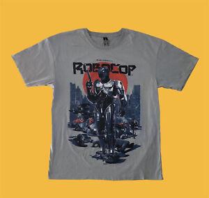 ROBOCOP Alex Murphy T-shirt LOOTCRATE Men Large Gray Short Sleeve