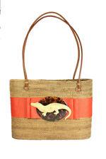 Mango Band & Gold Gator Large Handcrafted Bosom Buddy Bag Handbag - NEW